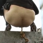 BFFO-05 Acrobatic outdoor pissing and pooping.