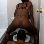 Big turd in slaves mouth