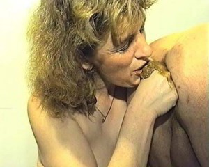 A scat couple is performing a dirty piss and poo session