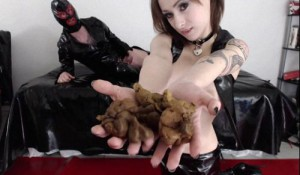 Fucked Hard with a scat-stuffed mouth