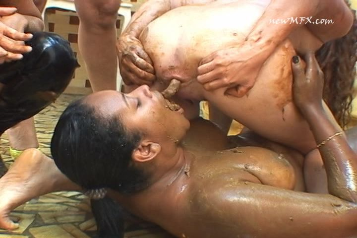 Scat food girl masturbation