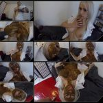 Blonde pooping, licking shit and masturbation pussy [HD 1080p]