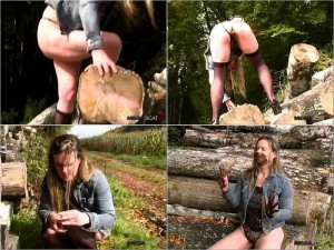 MEGASCAT – ANASTASIA – OUTDOOR SCAT SMOKING