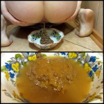 Scat and pissing in a bowl for you! Food is for you Full HD 1080