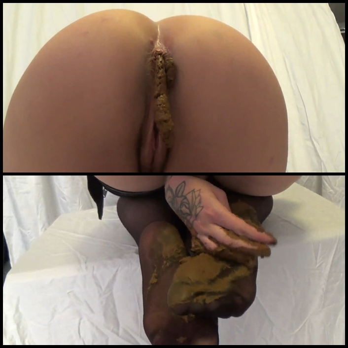 Smearing shit on the legs and tasty ass Full HD 1080 (NO AUDIO) – Scat Solo, Poop videos, Shitting
