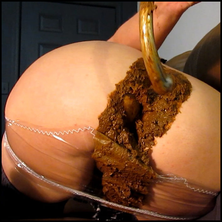 Huge Turd Smash in Plastic Panties HD 720 (Panty Pooping, Scat Solo, Big Pile)