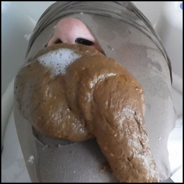 I stuff him full with my morning shit Full HD 1080 (Scat, Mistress, Toilet)