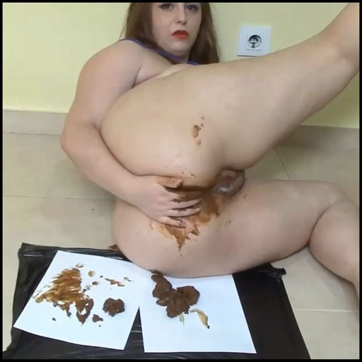 My Face With Shit and Masturbation (Babe, face, Fresh Scat) Full HD 1080