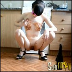 Playing With a Bottle and Masturbation Part 1 Full HD 1080 (Scat solo, Dirty Masturbation, Poopping)