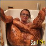 Smearing in Bathtub JosslynKane Full HD 1080 (Poop Videos, Scat, Smearing) 22/09/2016
