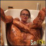Smearing in Bathtub JosslynKane Full HD 1080 (Poop Videos, Scat, Smearing) 22/09/2016