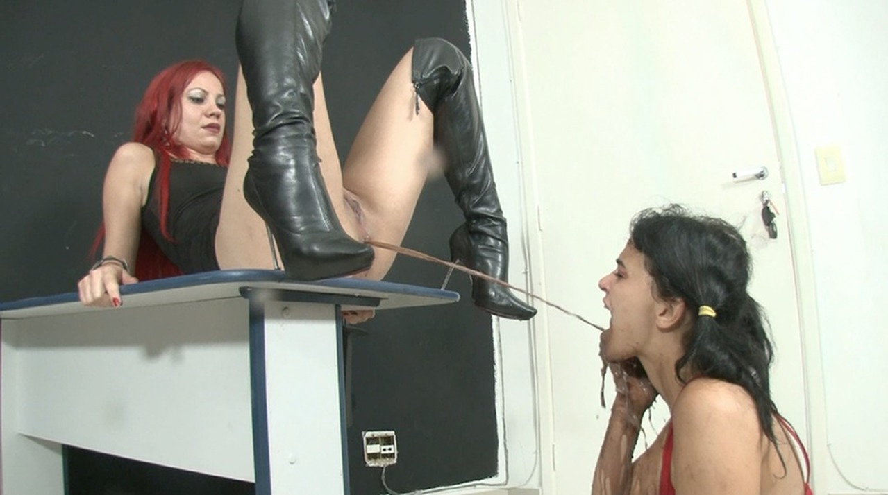 Ass Enema Porn enema extreme – swallow the extra brown liquid direct from