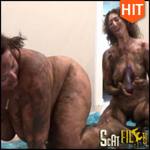 Scat Wrestling! SamanthaStarfish vs ScatGoddess! Part-2 (Poop Videos, Scat, Smearing) 03/03/2017