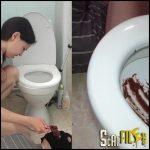 Toilet Slave Swallows Alita Shit From Toilet – Pooalina – HD 720p (human toilet, toilet slavery) 26/05/2017