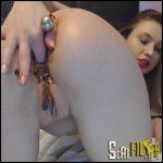 Poo Close to Cam in Skype Show – DirtyLena – Full HD 1080 (pooping girls, shitting girls) 19/08/2017