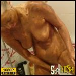 Sexy body is all covered with shit – Brown wife – Full HD 1080 (Poop Videos, Scat, Smearing, Pee) 15/11/2017