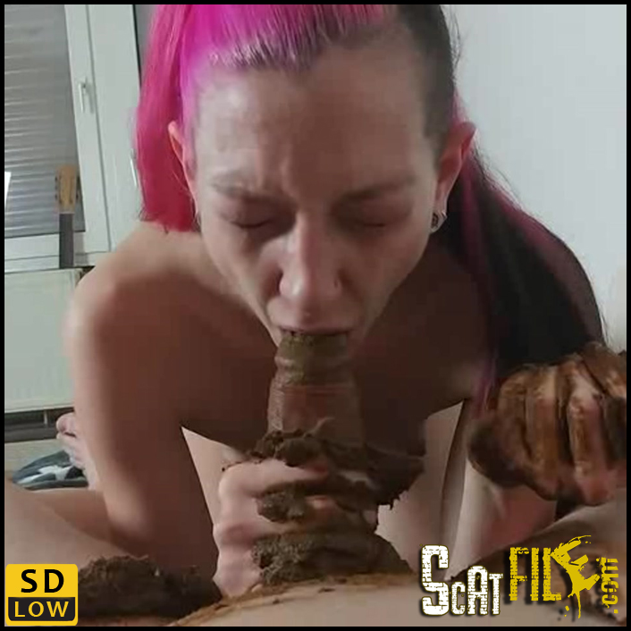 Anal sex with shit on dick