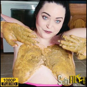 Poop in hand then Smearing on boobs – Lillyxxx – Scat solo
