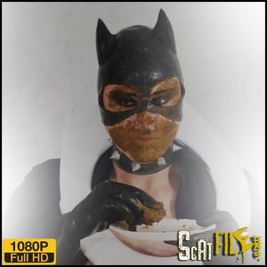 Catwoman smears and swallows – Fetish-zone – Hit Scat solo, Smearing