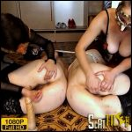 Liquid diarrhea for slaves Jan and Caroline – ModelNatalya94 – Pooping, Enema