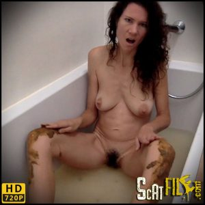 Bathing with my shit – nastymarianne – Scat Solo, Amateurs Scat porn
