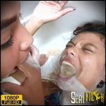 Vomit Extreme Into Mouth And Swallow By Two Top Models And One Young Slave