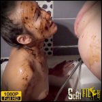 Double enema after scat party in shower – Natalia Kapretti – Extreme scat