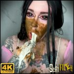 Hot Creepy Scat Girl Milky Puking – DirtyBetty – Smearing, Vomiting, VIP Scat