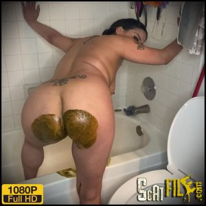 Diarrhea shoots out in the tub – LadyX – Poop Videos, Scat Solo, Smearing