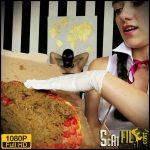 Sadistic School Girl feeds giant Scat Pizza – MissMortelle German Scat Porn