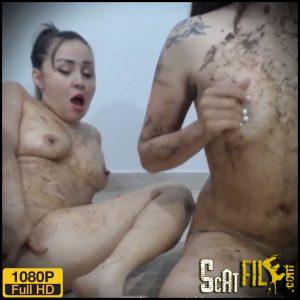 Sara and Isabella smear poop on each other – Sarathonson – Lesbian Scat Girls